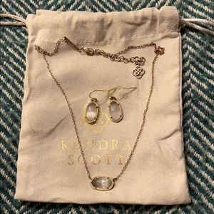 Kendra Scott Necklace and Earring Set